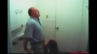 Daughter gives dad a Blowjob in restaurant