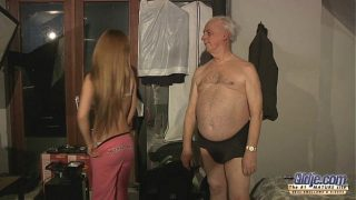 seventy five years old grandpa sex blessed by Russian hottie blonde