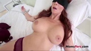 Son Tricks Fucks BUsty Brunette MOM-Syren De Mer