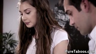 Teenage babe first time trying creampie by taboo doctor