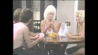 Weariful blonde lady Helga Sven invited her pretty young niece Bunny Bleu and couple of guys living next door to have a nice time playing exciting cards game xxx